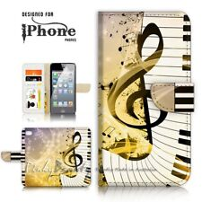 ( For iPhone 5 / 5S ) Wallet Case Cover P21305 Music Keyboard