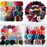 2019 Velvet Hair Scrunchies Hair Ties Bun Ring Chiffon Silk Gorgeous Elastic Lot