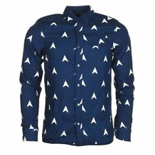 SCOTCH & SODA Shirt Pure Indigo Blue Regular Cotton Size Small RRP £120 MC 122