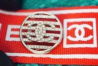 100% Chanel button 1 pieces   metal cc logo 0,8 inch 20 mm  💔💔💔silver
