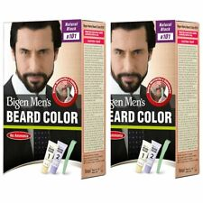 Pack of 2 Bigen Men's Beard Color, Natural Black B101 (20g + 20g)
