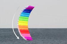 New 1.5m Dual Line Parafoil Parachute Stunt Sport Beach Outdoor Toys Colorf Kite