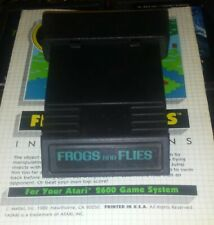 Frogs and Flies (Atari 2600) 1982 Game Cartridge And Manual Vintage Not Tested