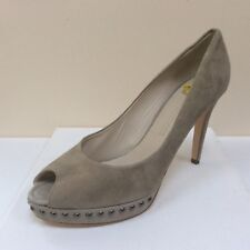 K&S Gia nude suede stud detail platform courts, UK 8/EU 41, RRP £179, BNWB