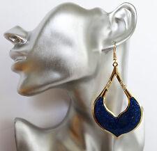 Splendido Blu Glitter Teardrop Orecchini a Cerchio Dangle 9.5 cm goccia secondi * *
