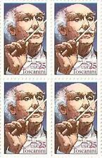 US 2411 Arturo Toscanini 25c block MNH 1989