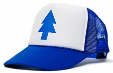 RETRO TRUCKER CAP [DIPPER BLUE PINE TREE] MOVIE CARTOON SNAPBACK HAT KAPPE MÜTZE