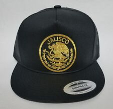JALISCO    MEXICO  BASEBALL HAT MESH TRUCKER   BlACK SNAP BACK ADJUSTABLE  NEW