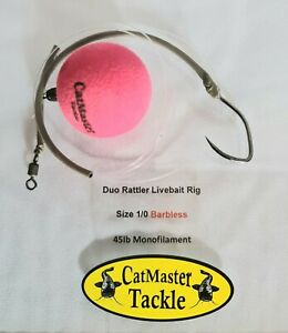 CatMaster Tackle Duo Rattler Popper Live Bait Rig 1/0 Barbless (Yellow)