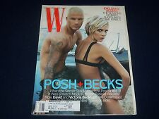 2007 AUGUST W FASHION MAGAZINE - DAVID & VICTORIA BECKHAM COVER - J 2031