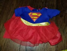 BUILD-A-BEAR Workshop Supergirl Superman COSTUME TEDDY OUTFIT with a Cape