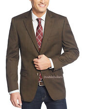 $250 Tasso Elba Men's Brown Herringbone With Red Deco 42L Blazer Sportcoat