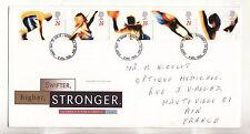 Grande Bretagne enveloppe 1er jour  Jeux Olympiques  1996 num: 1885/89