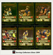2001 Teamcoach Trading Cards Gold Parallel Team Set Western Bulldogs (6 )
