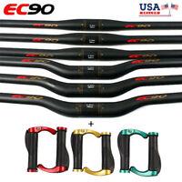 US EC90 MTB Bike Handlebar 31.8/25.4mm*660-760mm Carbon Fiber Riser/Flat Bar
