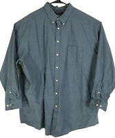 Roundtree & Yorke Shirt Mens Size 4XT Tall Blue Green Plaid Button Front 4XLT 4X