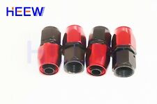 4AN AN4 AN -4 Straight Fuel Swivel Fitting Hose End Oil Fuel Adaptor Red Black 4