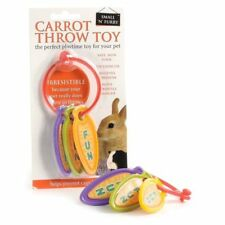 Carrot Throw Chase Toy for Rabbits, Guinea Pigs, Rats, Ferrets, Gerbil , Hamster