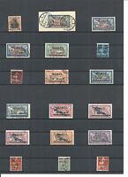 Memel. Litauen 1920, Einzelmarken aus MiNrn: 1 - 182 o, gestempelt o