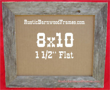 8x10 Flat weathered rustic barnwood barn wood picture frame weathered upcycled