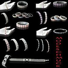 Modeschmuck armband perlen  Modeschmuck-Armbänder im Gummiarmband-Stil mit Strass-Perlen für ...