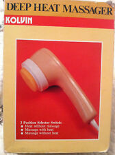 Used Vintage Kolvin Deep Heat Massager Electric Heat Dh2 Vintage W/3 Heads
