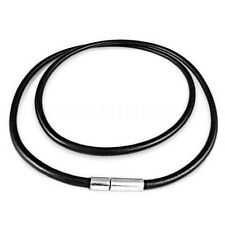 Leather Cord Necklace Black Brown 3mm Bayonet Clasp Surfer Choker Unisex USA