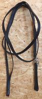 Lederschlaufzügel mit Lederschlaufen,schwarz, Warmblut, (170)