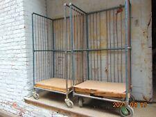 Antique Vintage Factory Industrial Printers Bindery Carts LOT OF 2