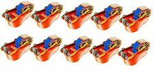 10 x 5 Ton 12 Meter Ratchet Straps Hooks Tie Down Trailer Car Lorry Recovery New