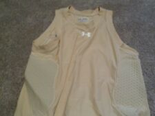 NEW Under Armour MPZ Compression Basketball Padded TAN Tank 2XL FREE SHIPPING