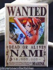 "Nami Wanted Poster - 2"" X 3"" Fridge / Locker Magnet. One Piece Anime"