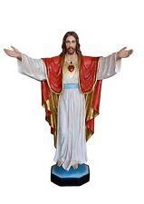 STATUA SACRO CUORE DI GESU' JESUS SACRED HEART Vetroresina cm.200. 79 inch