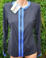 SEAFOLLY Rashie/Sun Vest Size 16 BlackBlue. Full Zip-Front L/S NEW $129.95 UV50+