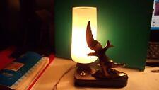lampe chevet déco oiseau marbre bronze doré