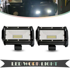 2PCS 5 Inch 72W Front LED Work Light Car Flood Bar Offroad Fog Lamp 4WD SUV 4X4