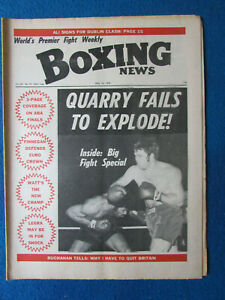 Boxing News Magazine - 12/5/72 - Jerry Quarry & Larry Middleton Cover