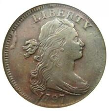 1797 Draped Bust Large Cent 1C Coin - Certified ANACS XF Details / Net VF20
