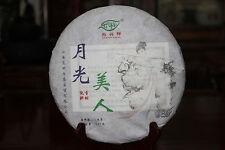 12oz 357g 2015 Yunnan Raw Puer White Cake Sheng Pu-erh Tea * Moon Beauty