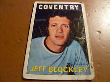 A & A.C. Chicle Fútbol Tarjeta 1972/73 Rojo Naranja Back Jeff blockley Coventry 56