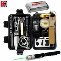 First Aid Survival Kit Mini Emergency Outdoor Camping Military Tool Set 14 in 1