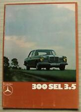 MERCEDES BENZ 300 SEL 3.5 Car Sales Brochure 1970 #WZ1318/03/02/1270