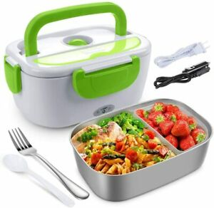Electric Lunch Box for Car and Home, Portable Food Warmer Heater Lunch Box