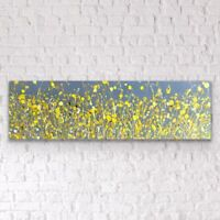Large ORIGINAL HAND PAINTED ABSTRACT By Diane Plant 100 x 30cm BoxCanvas Acrylic