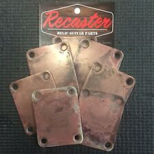 Recaster Aged Relic Stratocaster Strat Bass TELE Telecaster Neck plate