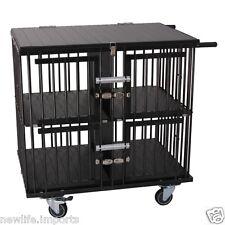 AEOLUS Pro 4-Berth Aluminium Dog Show Trolley - Large (Black)