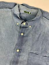 Hoyle Jackson Long Sleeve Denim Made in USA Shirt sz M Blue