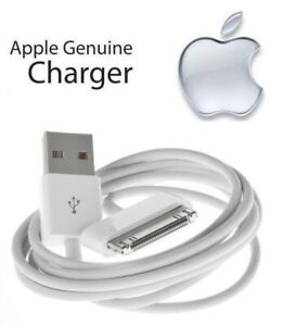 Apple 30 Pin to USB Cable Charger for iPod classic 2007-2009 (1m/3ft) MA591G/C