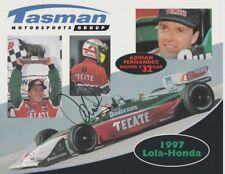 1997 Adrian Fernandez signed Tasman Motorsports Honda Lola CART postcard