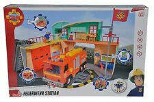 Simba Feuerwehrmann Sam Neue Feuerwehrstation zum Aufklappen Figur Spielzeug
